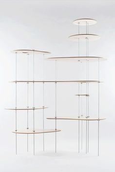 Lesha Galkin; Wood and Metal 'Nenubhar' Shelving System for Dopludo Collective, 2012.