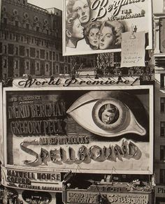 TImes Square 1945 SPELLBOUND HITCHCOCK Ingrid Bergman Billboard New York City Vintage by Christian Montone, via Flickr