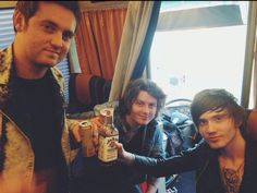 Sam Bettley, Ben Bruce, and Denis Stoff- Asking Alexandria