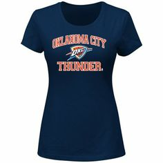 Oklahoma City Thunder Ladies Heart & Soul Slim Fit T-Shirt - Navy Blue