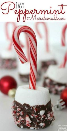 Easy Peppermint Marshmallow Treats! Simple, easy, and so cute! Holiday Treats for any occasion or Christmas Party! #passion4savings #christmas #peppermint #candycanes Christmas Treats, Christmas Recipes, Holiday Recipes, Christmas Deserts, Christmas Appetizers, Christmas Goodies, Christmas Holidays, Christmas Desserts Easy, Holiday Treats