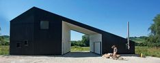 Minimalist Black Home in Austrian Countryside | Modern House Designs