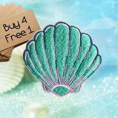Seashell Patch Girly Patches Iron On Patch Embroidered Patch Sew On Patch Patches For Girls