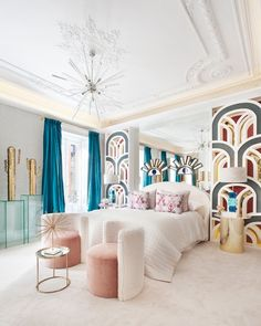 This time we researched pastel room décor ideas for nearly any room of your house. These pastel room décor ideas include from sofas to pillows, linens, and furniture. Art Deco Bedroom, Home Decor Bedroom, Modern Bedroom, Bedroom Décor, Wood Bedroom, Bedroom Sets, Elegant Home Decor, Cheap Home Decor, Home Design