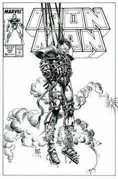 Barry Windsor-Smith: IRON MAN #232 Cover Reconsideration Original Art