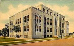 Clovis New Mexico NM 1937 Curry County Court House Antique Vintage Postcard