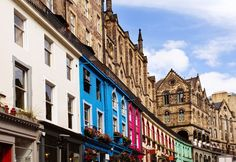 Photo about Colorful buildings in Victoria Street in Old Town Edinburgh, Scotland. Image of view, building, edinburgh - 65246297 Edinburgh Harry Potter, Old Town Edinburgh, Harry Potter Tour, Edinburgh Castle, Edinburgh Scotland, William Wallace, Victoria, Colourful Buildings, Walking Tour