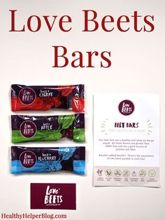 Love BEETS Bars Review on Healthy Helper Blog