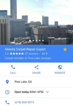 Atlanta Carpet Repair Expert 678-860-2819 *Carpet Stretching & reseaming *Carpet Patching  *Berber Specialist *Pet Damaged Carpet Repair  Welcome to Atlanta Carpet Repair Expert. I am pleased to announce Metro Atlanta has a specialist that can help everyone solve their worst carpet issue's.
