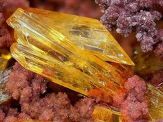 Legrandite, Zn2(AsO4)(OH) · H2O, sur Adamite et oxydes de fer Ojuela Mine, Mapimí, Mun. de Mapimí, Durango, Mexico. Photo Tony Peterson
