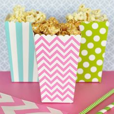 Set of 12 Popcorn and Treats Boxes, perfect for any occasion. We love these retro popcorn boxes! Perfect for any occasion, whether to add a little something to your home movie nights, a birthday party or wedding, these are sure to be a hit. These fun popcorn boxes are not only available in the retro classic red and white striped popcorn boxes, we have 5 different colours: Yellow, Blue, Green, Pink or Red; and 3 different patterns: Stripes, Dots or Chevron to make sure you have the style to…