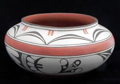 "Zia Indian AWARD WINNER 5.50"" h × 11.50"" d Pottery Bowl by Diana P. Lucero"