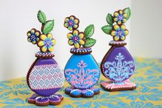 Cookies | Gallery | Julia Usher | Recipes for a Sweet Life 3-D Cookie Bud Vases