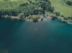 Aerial view, lake, landscape wallpaper