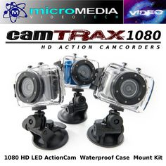 CamTRAX Action Cam 1080 HD LED w/ Waterproof Case & Mount Bundle Compare GoPro #CamTRAX