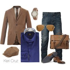 Opportunity by keri-cruz on Polyvore featuring Christys', Ray-Ban, Zegna, Circle of Gentlemen, G-Star Raw, Mulberry, Lanvin and Emporio Armani
