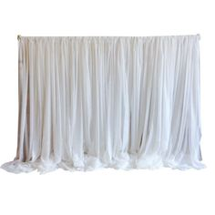 White Sheer Draping. Contact ABC Rentals Special Events to rent items for your wedding or special event. #SiouxFallsWedding #HeadTable #SheerBackdrop
