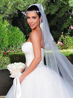 Kim Kardashian Wedding Hair and Makeup