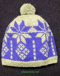 Snowstorm Hat Quick Easy Pattern PDF
