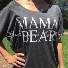 Mama Bear Slouchy Tee by bohoandlovely on Etsy