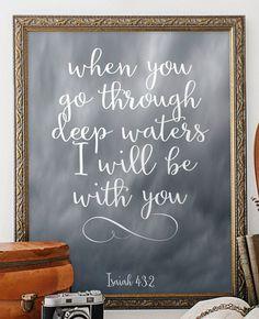Bible Verse art print Printable art wall by TwoBrushesDesigns #printableverses