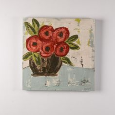 Red Floral Painting