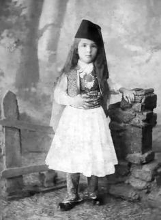 Albanian boy in traditional costume