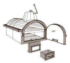 Steinbackofen Steinbacköfen Backofen Brick Oven Outdoor, Outdoor Kitchen Plans, Brick Bbq, Pizza Oven Outdoor, Wood Fired Oven, Wood Fired Pizza, Barbecue Four A Pizza, Bread Oven, Rocket Stoves