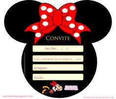 convite orelhas festa minie Minnie Mouse Party, Mouse Parties, Mickey Mouse, Birthday Party Decorations, Birthday Parties, Diy And Crafts, Paper Crafts, Lines Wallpaper, Disney Princess Party