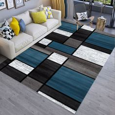 Living Room Mats, Decor Home Living Room, Home Decor Furniture, Living Room Designs, Luxury Home Decor, Diy Home Decor, Grey And Yellow Living Room, Carpet Design, Decoration