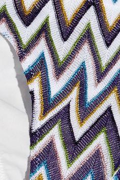 Missoni - Mare Metallic Crochet-knit Bandeau Bikini - Purple - IT44