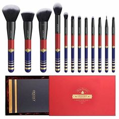 Docolor Starlight Goddess Make-up Pinsel Premium Synthetic Kabuki Professional Foundation - Makeup Products Lipstick Diy Makeup Brush, Best Makeup Brushes, How To Clean Makeup Brushes, Makeup Kit, Best Makeup Products, Makeup Tools, Goddess Makeup, Latest Makeup, Beauty Makeup Tips