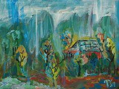 Rain in Carpathians - Tetyana Snezhyk painting