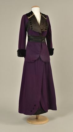 LOT 446 WOOL SUIT with BRAIDED TRIM c. 1912 - whitakerauction