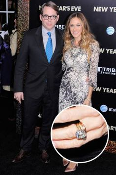 The Top 25 Celebrity Engagement Rings: Sarah Jessica Parker and Matthew Broderick's yellow gold set diamond