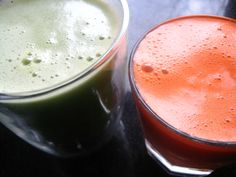 Green Juice & Carrot Juice