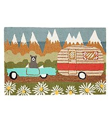Bear Chevy Camper hooked rug - Are you kidding me?!