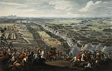 The Battle of Poltava in 1709, as depicted by Denis Martens the Younger, 1726