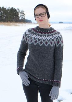 Jääkukka kaarrokepusero Schoeller Filzi | teetee SHOP Knitting Patterns, Pullover, Sweaters, Shopping, Fashion, Moda, Knit Patterns, Fashion Styles, Sweater