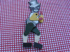 Black Americana Jointed Painted Dancing Wood Black Man from cheriescollectibletreasures on Ruby Lane