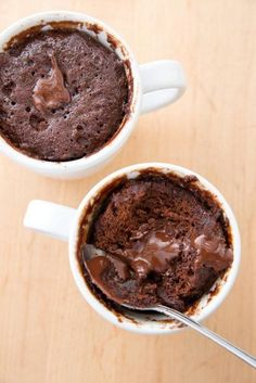 America's Test Kitchen molten lava in a cup - microwave- GREAT recipe!!!!