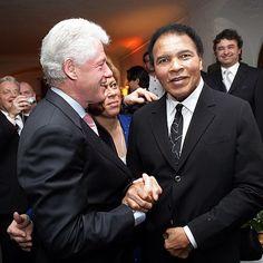 Ali with Bill Clinton