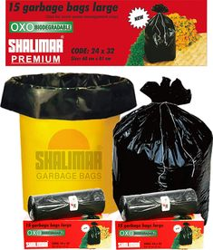 Shalimar Premium Garbage Bags (Large) Size 60 cm x 81 cm 6 Rolls (90 Bags) (Trash Bag/ Dustbin Bag) - Classi Blogger