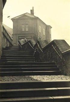 Untitled (child walking up steps) By Josef Sudek ,Circa 1940