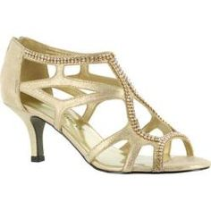 Women's Easy Street Flattery Easy Flex Gold Polyurethane/Rhinestones