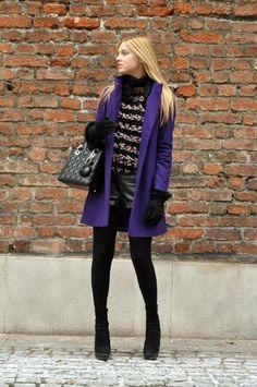 The purple coat (by Chiara Ferragni) http://lookbook.nu/look/1406381-The-purple-coat