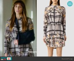Spencer's plaid and floral shirtdress on Pretty Little Liars.  Outfit Details: https://wornontv.net/69900/ #PLL