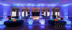 """I loved working with Dana Nestel of THE WRITE OCCASION to """"brand"""" Daniel's  Bar Mitzvah celebration with a sleek logo, fun favors (in collaboration  with Boomtown Tees) and fabulous finishing touches.  Take a peek...  Pops of neon colors throughout the black and white decor gave the v"""