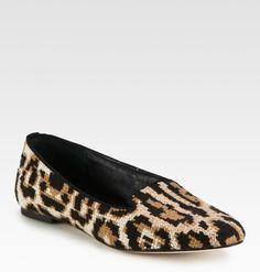 Dolce & Gabbana Crochet Leopard Print Smoking Slippers in Animal (beige) - Lyst