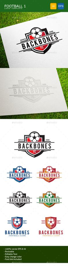 Football Team - Logo Design Template Vector #logotype Download it here: http://graphicriver.net/item/football-team/11005799?s_rank=747?ref=nesto